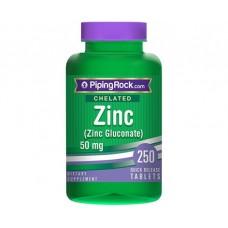 Chelated Zinc 50 мг Gluconate 250 таблеток