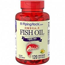 Omega-3 Fish Oil 1000 мг 120 Softgels