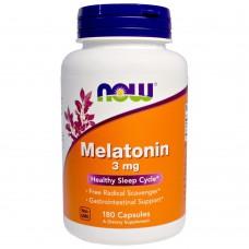 NOW Melatonin 3 мг 180 капсул
